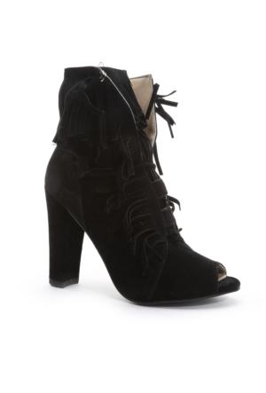 Shoes&Moda Bayan Bootie Siyah