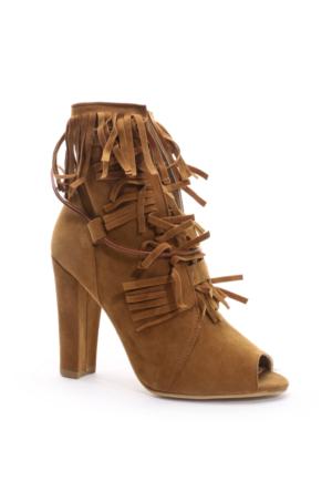 Shoes&Moda Bayan Bootie Taba