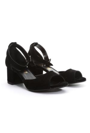 Shoes&Moda Bayan Topuklu Sandalet Siyah