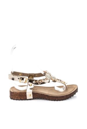 Pembe Potin Dore Sandalet