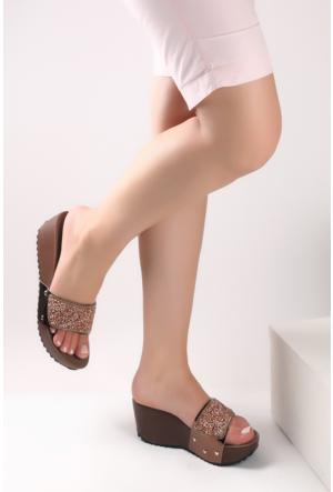 Pembe Potin Bronz Sandalet