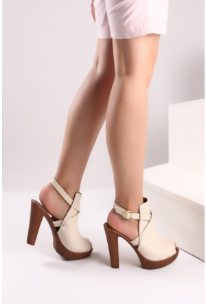 Pembe Potin Bej Ayakkabı