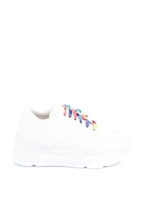Pembe Potin Beyaz Ayakkabı