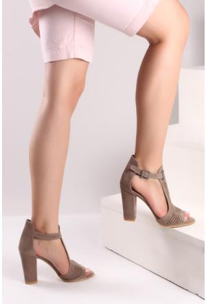 Pembe Potin Vizon Ayakkabı