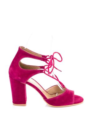 Pembe Potin Fuşya Nubuk Ayakkabı