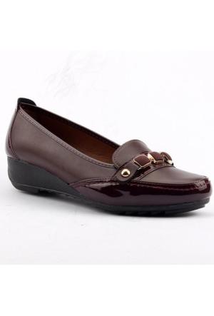 Wanetti 1107 Dolgu Topuk Günlük Rahat Taban Babet Bayan Ayakkabı