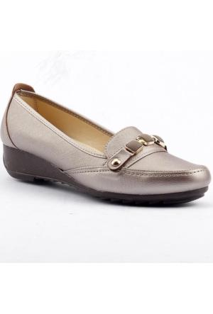 Wanetti 1307 Dolgu Topuk Günlük Rahat Taban Babet Bayan Ayakkabı