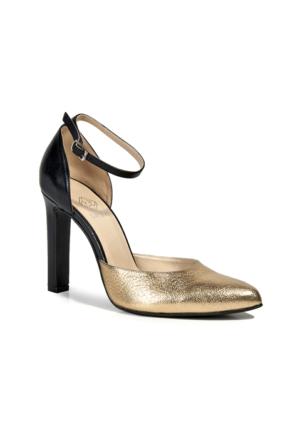 Desa Heather Kadın Klasik Ayakkabı Altın Siyah
