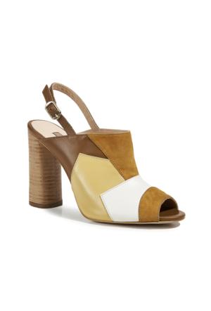 Desa Dawson Kadın Sandalet Sarı Beyaz Taba Açık Kahverengi
