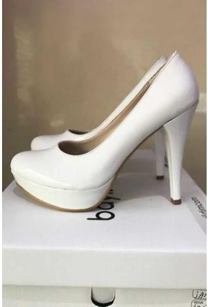 Peri Kızı Vale Topuklu Ayakkabı - Beyaz