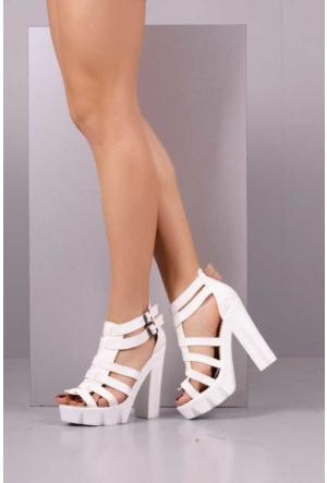Peri Kızı Eleni Topuklu Ayakkabı - Beyaz