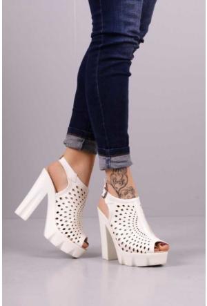 Peri Kızı Zenna Topuklu Ayakkabı - Beyaz