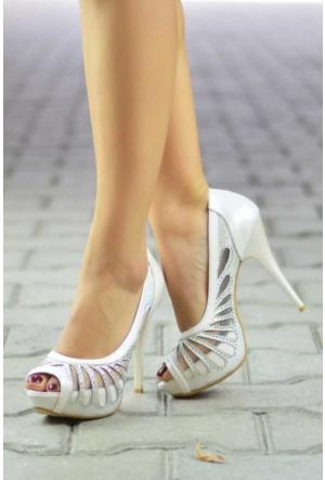 Peri Kızı Brave Topuklu Ayakkabı - Beyaz