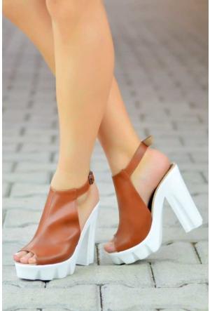 Peri Kızı Almira Topuklu Ayakkabı - Taba