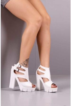 Peri Kızı Kuğu Topuklu Ayakkabı - Beyaz