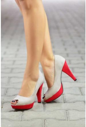 Peri Kızı Renek Topuklu Ayakkabı - Gri