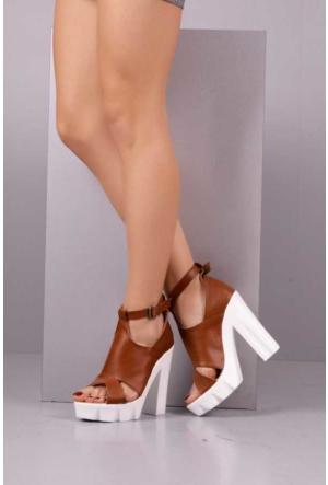 Peri Kızı Leyzan Topuklu Ayakkabı - Taba
