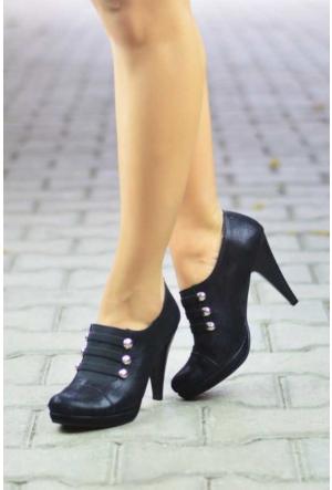 Peri Kızı Sitey Topuklu Ayakkabı - Siyah