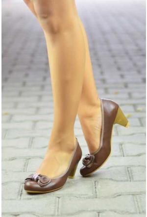 Peri Kızı Labne Topuklu Ayakkabı - Kahverengi
