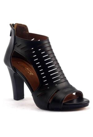 Lady Rachel 9 Cm Topuklu Sandalet Bayan Cilt Ayakkabı