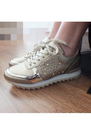 ModaBuymuş Taşlı Günlük Bayan Sneaker Ayakkabı