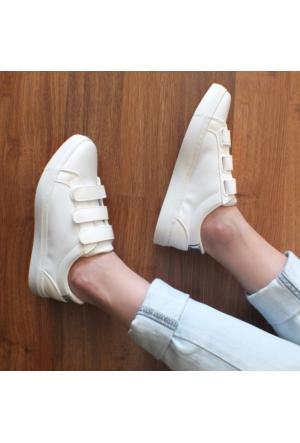 ModaBuymuş Cırt Cırtlı Günlük Bayan Sneakers Ayakkabı