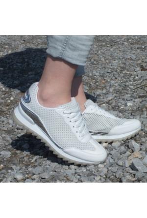 ModaBuymuş Likralı Sneaker Bayan Ayakkabı