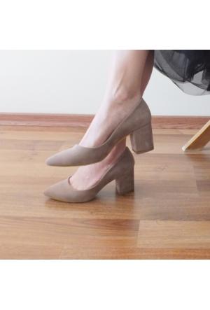 ModaBuymuş Kalın Topuklu Bayan Stiletto