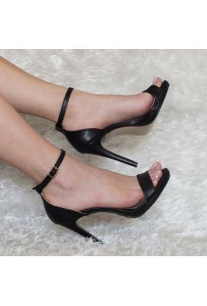ModaBuymuş Platform Topuklu Günlük Tek Bant Ayakkabı