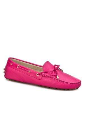 Cabani Loafer Günlük Kadın Ayakkabı Pembe Deri
