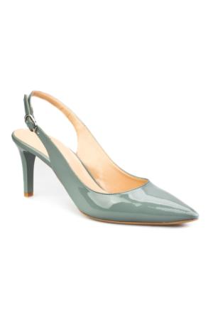 Cabani Bilekten Tokalı Günlük Kadın Ayakkabı Yeşil Rugan