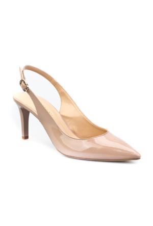 Cabani Bilekten Tokalı Günlük Kadın Ayakkabı Bej Rugan
