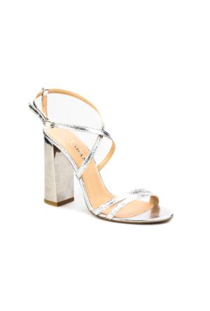 Cabani Çapraz Bağ Topuklu Günlük Kadın Ayakkabı Gri