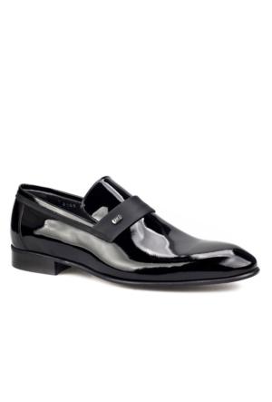 Kemerli Klasik Erkek Ayakkabı Siyah Rugan Cabani
