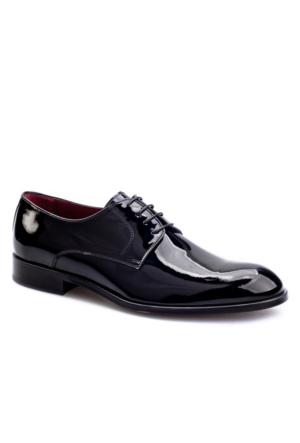 Bağcıklı Klasik Erkek Ayakkabı Siyah Rugan Cabani