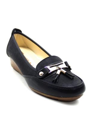 Wanetti 1003 Kadın Kot Püsküllü Ayakkabı