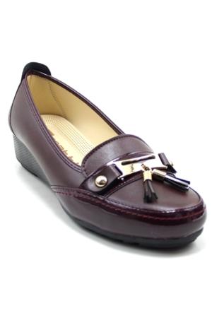 Wanetti 1103 Kadın Cilt Püsküllü Ayakkabı
