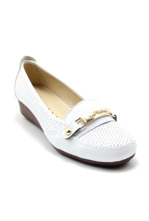 Wanetti 1023 Kadın Feta Kot Zımbalı Ayakkabı