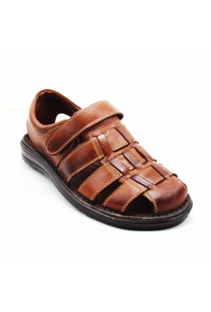 Wow Plus 208 Erkek Deri Sandalet
