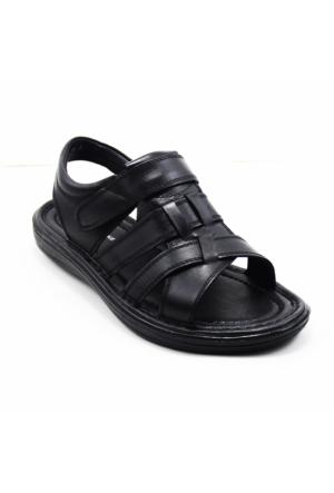 Wow Plus 221 Erkek Deri Sandalet