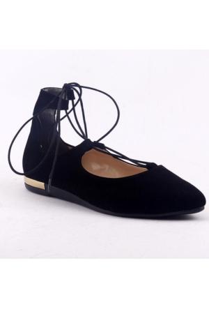 Yükseksoy Bilekten İpli Bayan Süet Babet Ayakkabı