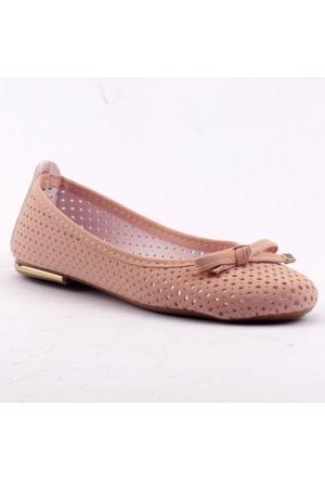 Ccway 4107 Günlük Yürüyüş Laser Kesim Bayan Babet Ayakkabı