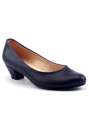 Alens Büyük Numara Fındık Topuk Günlük Bayan Babet Ayakkabı