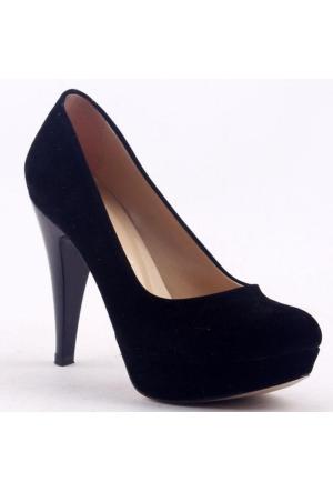 Paddy 2735 İnce Topuk Stiletto Bayan Süet Ayakkabı