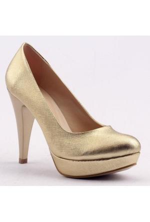 Paddy 2735 İnce Topuk Stiletto Çupra Bayan Kot Ayakkabı