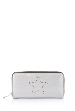 DeFacto Kız Çocuk Fermuarlı Cüzdan Gümüş