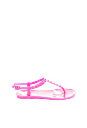 Pembe Potin Fuşya Sandalet