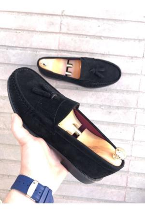 Oksit Acrow Corcuk Süet Ayakkabı-Siyah