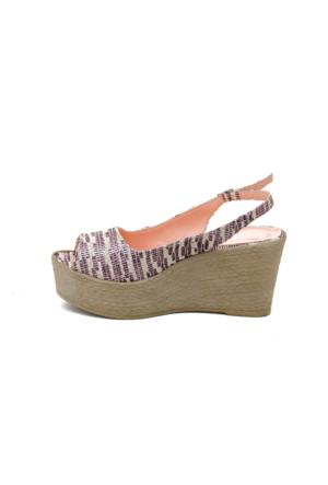 Dolgu Topuk Ayakkabı - Desenli - Ayakkabı Havuzu
