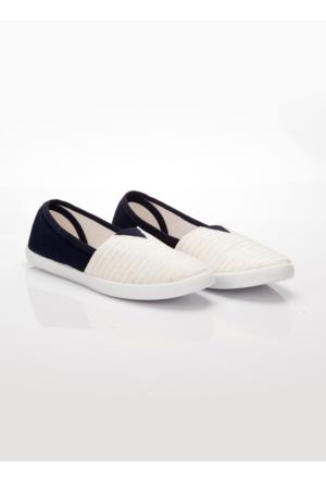 Ayakkabı - Lacivert Ekru - Ayakkabı Havuzu
